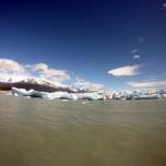 Barrera de hielo frente al glaciar Upsala