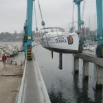 Sacando el Bahari del agua